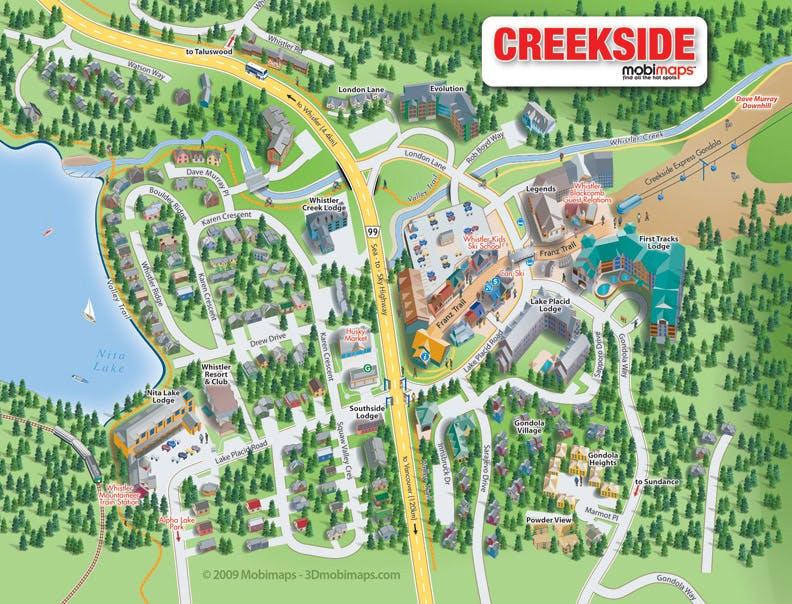 Creekside map