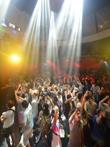 The dance floor at the Globe nightclub in Tumon, Guam