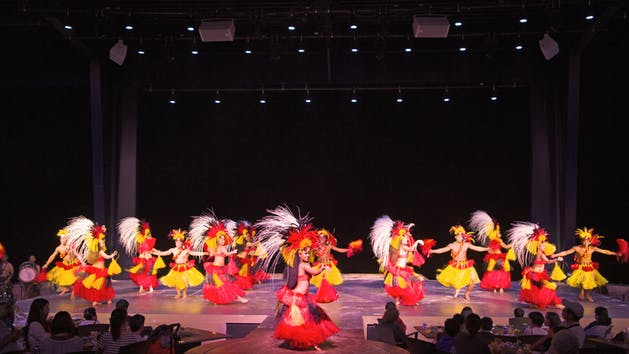 Hula dancers at the TaoTao Tasi show