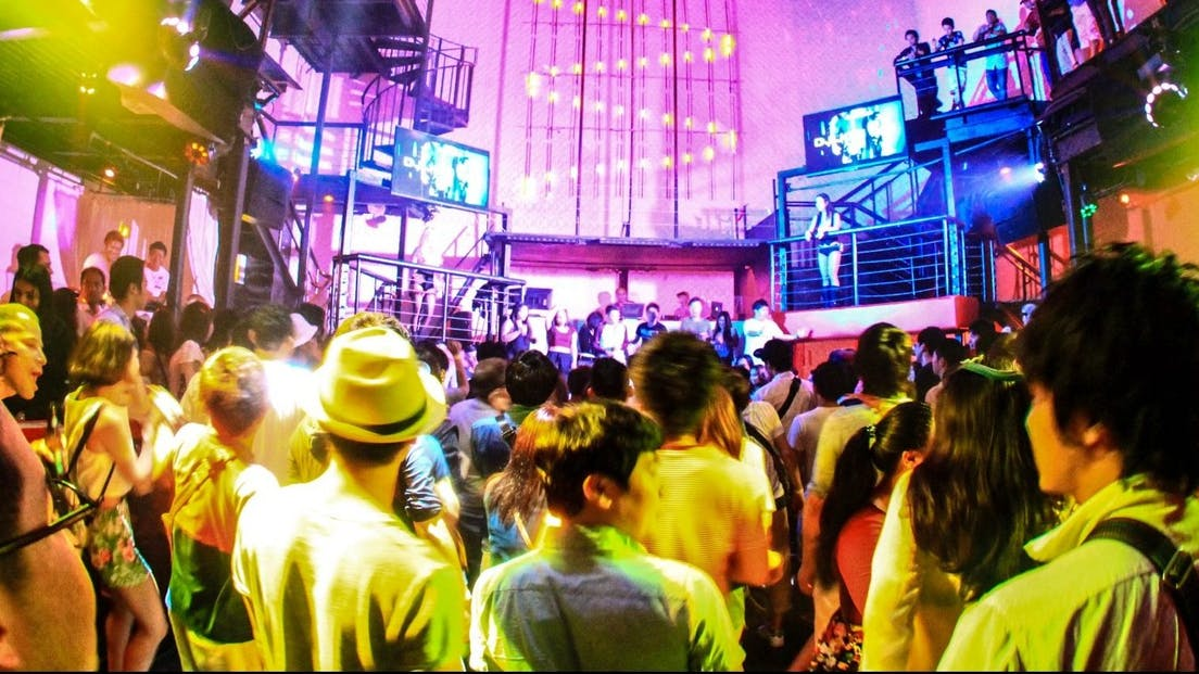 A packed dance floor at the Globe with the hottest crowds in Tumon, Guam