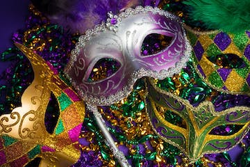 a close up of a mask