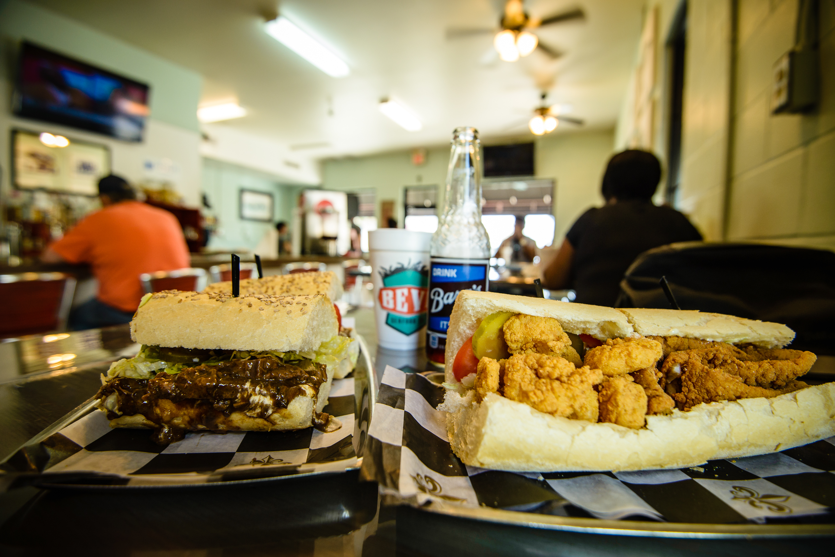 poboys, new orleans seafood, kayak, kayak tour, kayak tour eats, food for kayaking