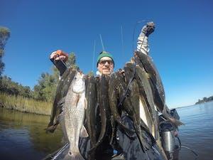 kayak, kayak fishing, speckled trout, speckled trout kayak fishing, new orleans fishing