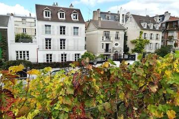 Row of houses in French neighborhood
