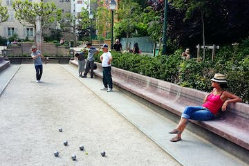 Group playing a game in a park
