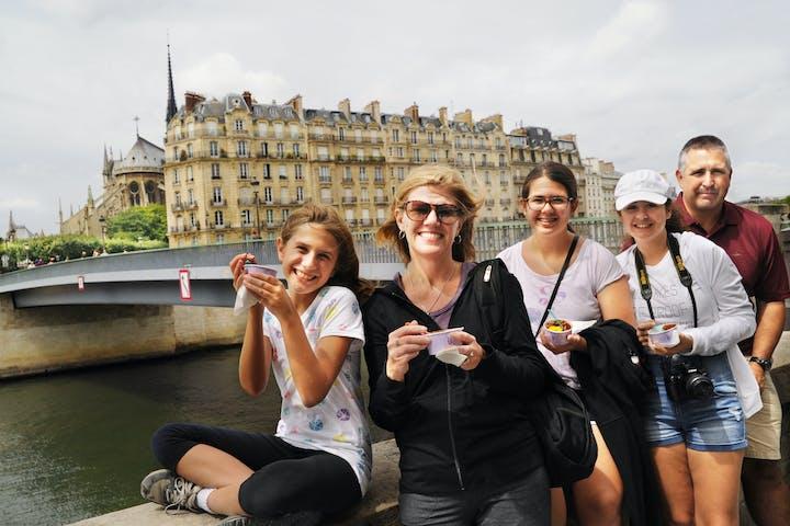 Group posing near bridge