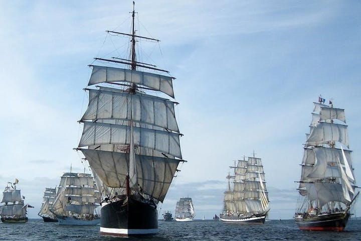 Tall ships with tall sails