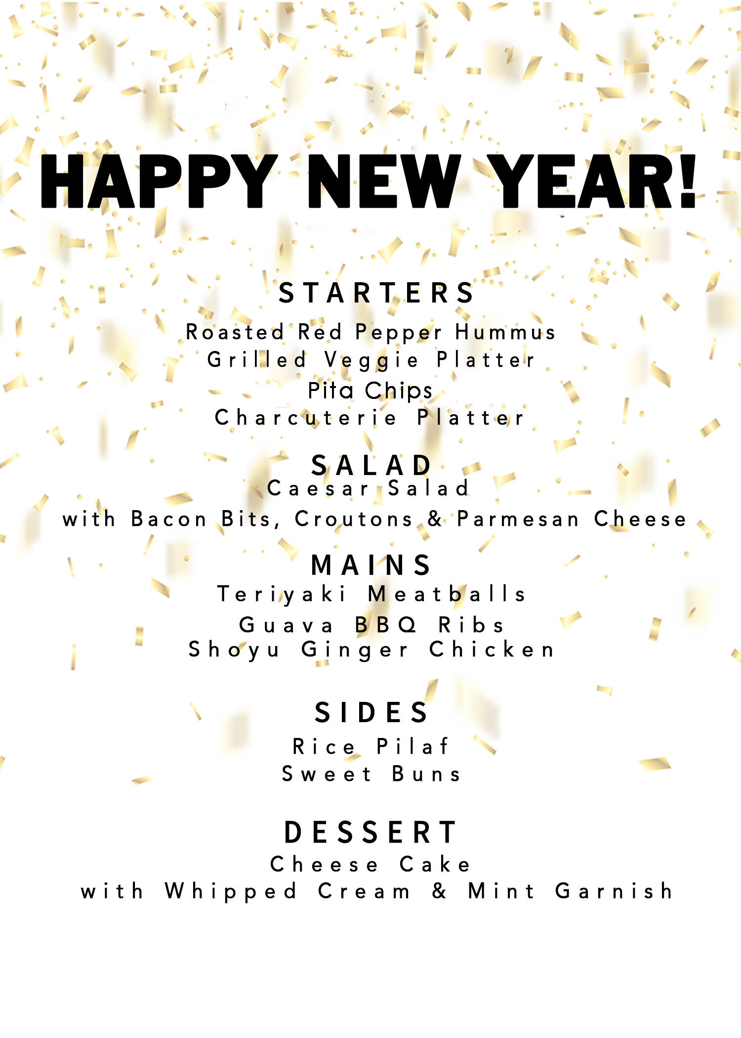 Click here to Download New Year's Eve Dinner Menu