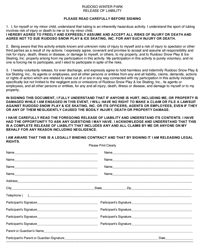 Click here to view release form