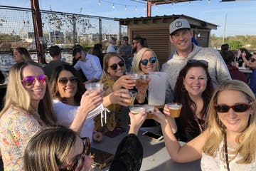 Charleston Brew Cruises group having fun on the tour
