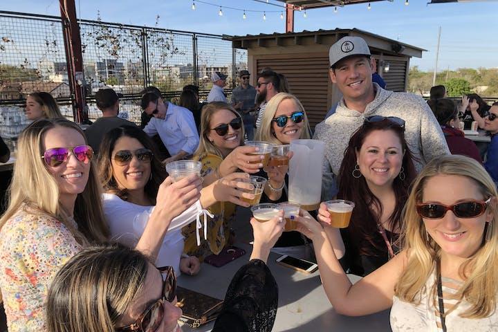 Charleston Brew Cruises group having fun on the tour