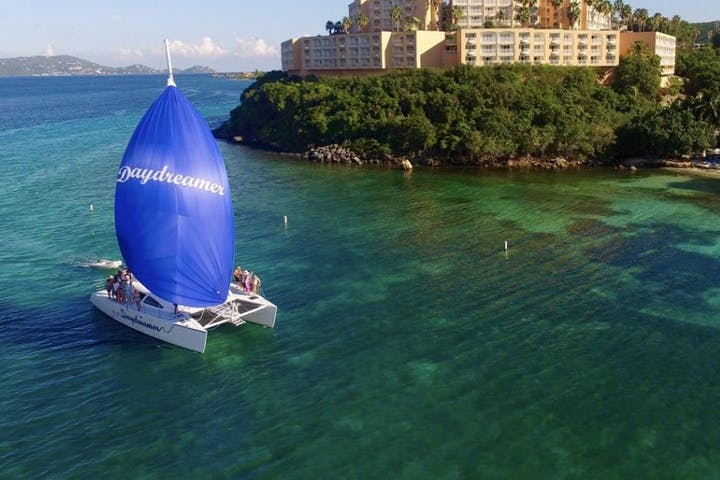 catamaran in st john bay