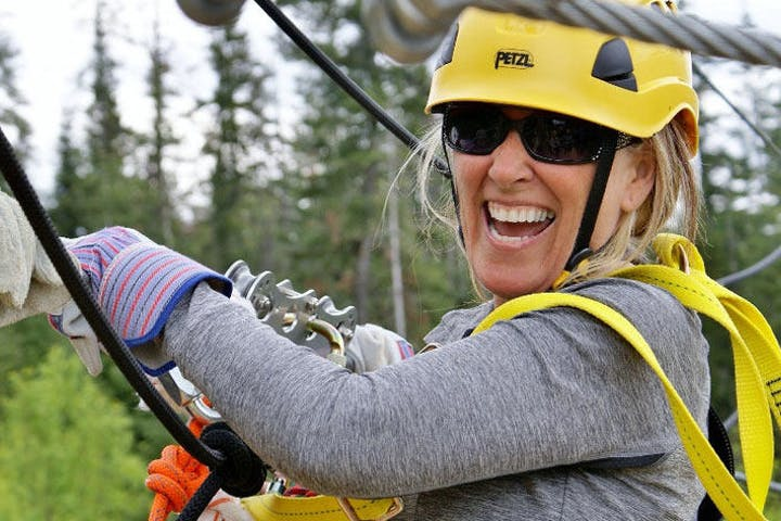 West Course zipliner Silver Streak Zipline Tours