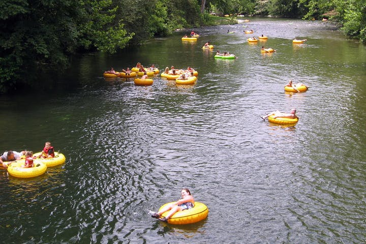 Lazy River Tubing group on the New River