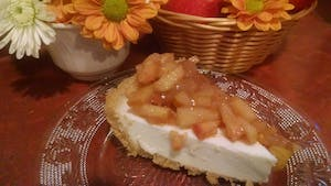 Apple cider cream cheese pie