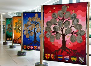 Quilts on display in exhibition