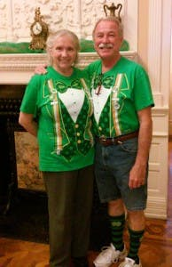 People dressed for St. Patrick's Day
