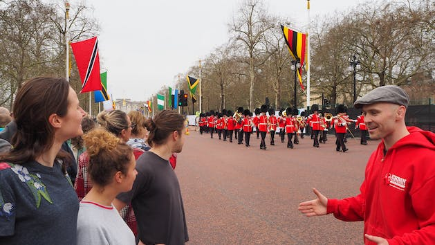 Queen's Guard Marching from Buckingham Palace