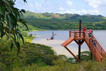 Ziplining in Kaloa, Kauai