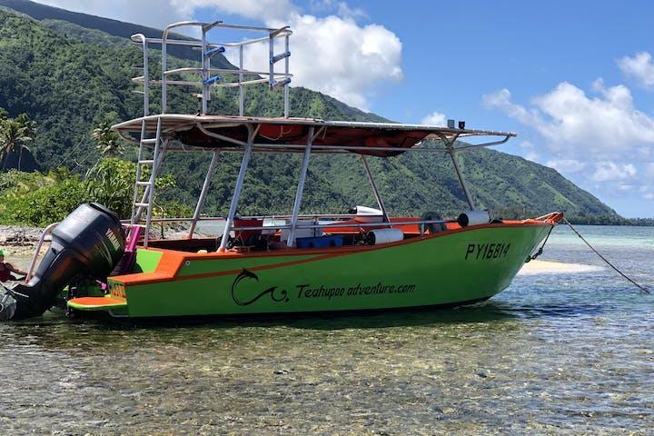 Teahupoo boat