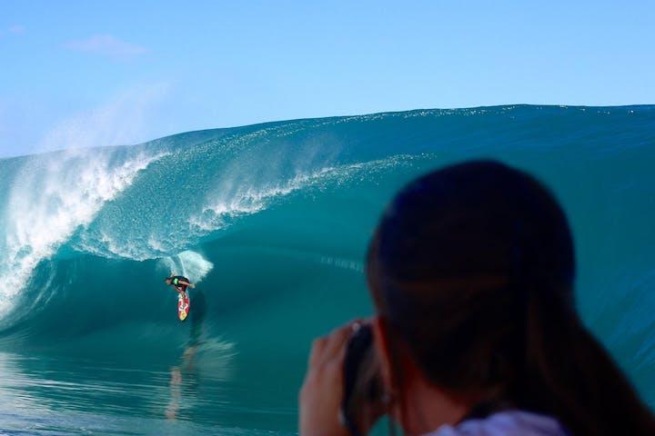 Wave watching in Teahupoo