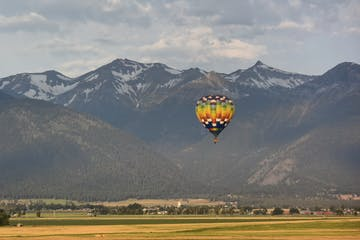 balloon over park city