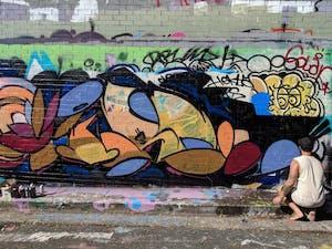 Sydney Street Artist at Work