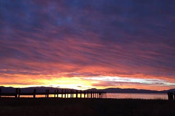 image of Sunset over Lake Tahoe, California on a Tahoe dinner cruise