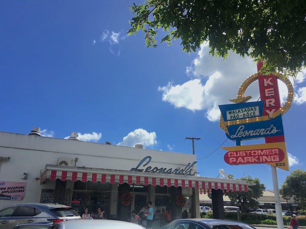 Outside of Leonard's on Kapahulu Avenue