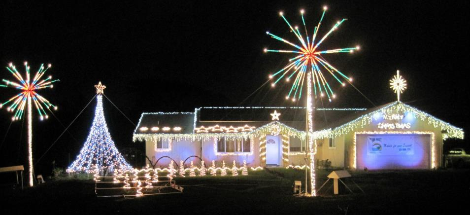 Hawaii Island residents spread holiday spirit every year by lighting up their homes