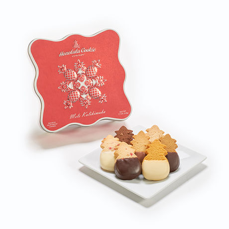 Under the tree, in a stocking, or given by hand, the warmth of the season is packaged and gifted in each collection of our premium shortbread cookies. The Mele Gift Tin Medium is presented in a collectible tin that will last as long as the memories this gift helps create.