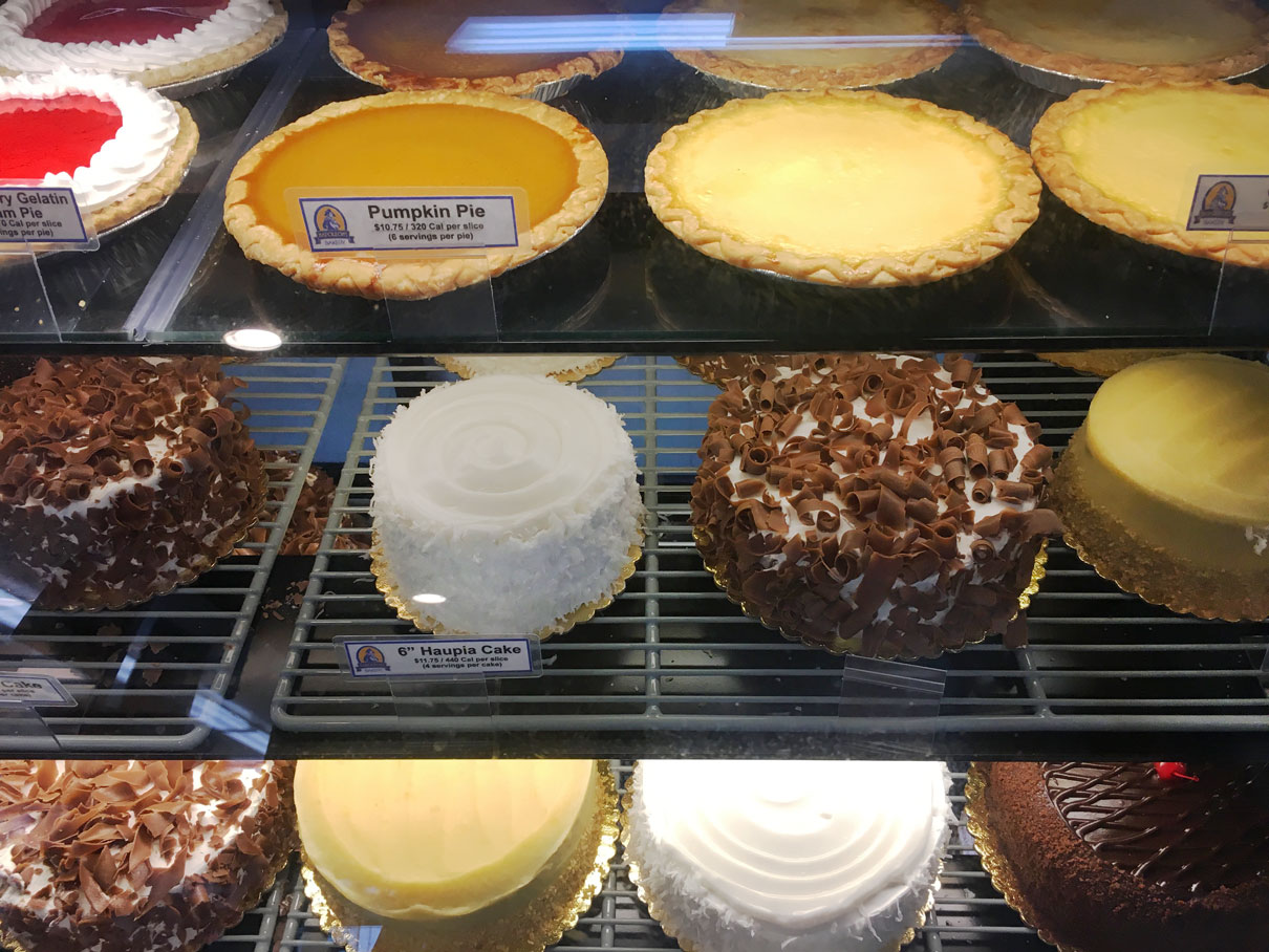 Beautiful pies and cakes at Zippy's.