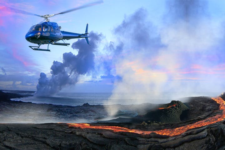 The helicopter tour of the Big Island