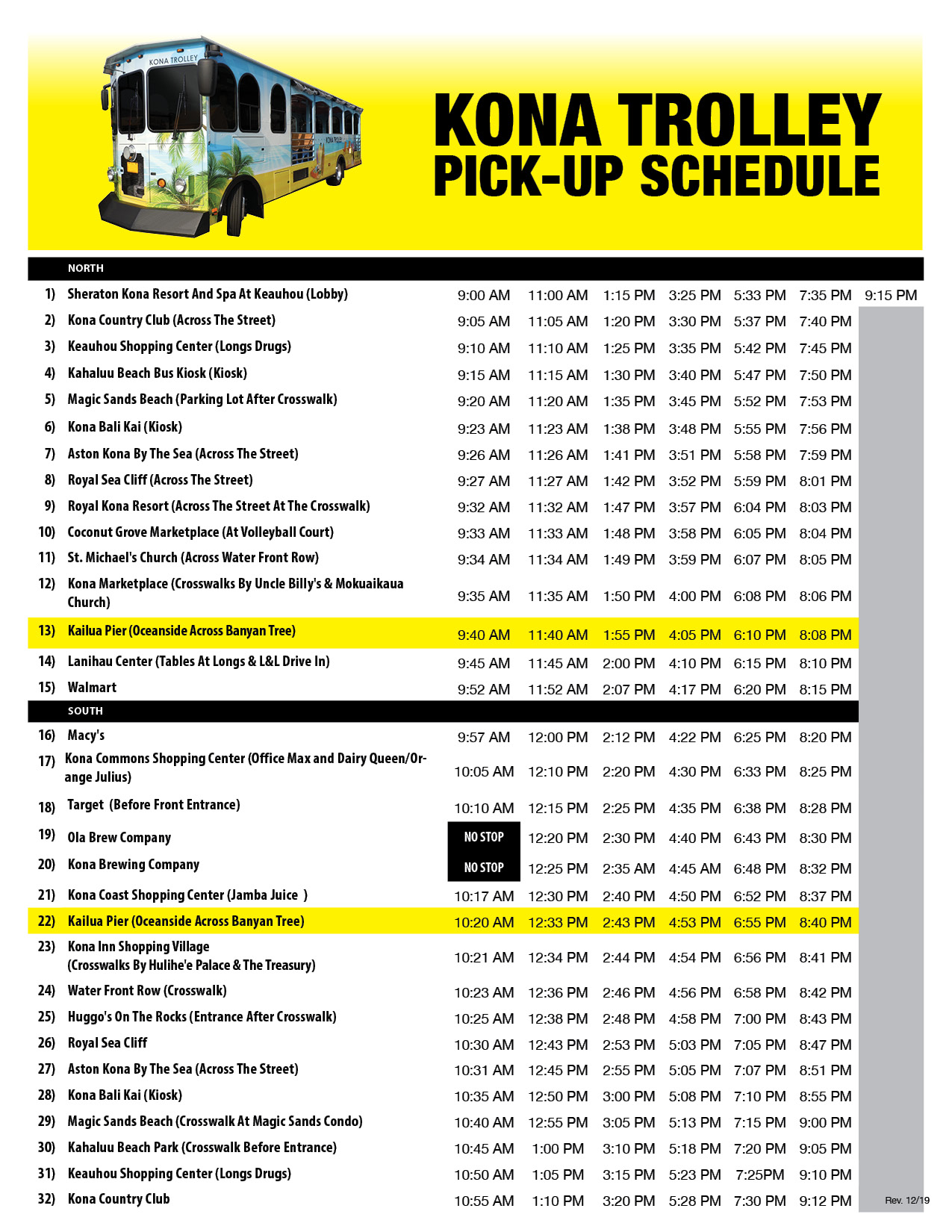 Click here to Download Pick-up Schedule