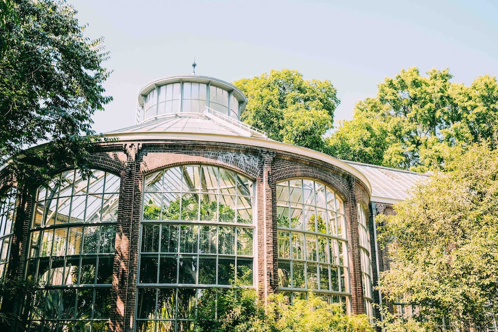 a building of the botanica gardens. romantic things to do in amsterdam