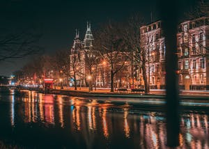 Amsterdam breaks for couples go for a night walk