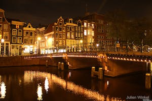 the canals, one of the romantic places of the romantic getaway to Amsterdam
