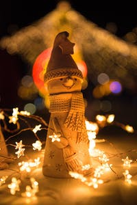 snowman at an Amsterdam Christmas Market