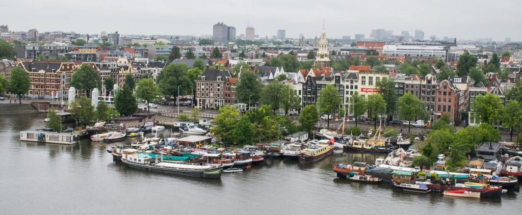 View from the public library Amsterdam during your Romantic trip to Amsterdam
