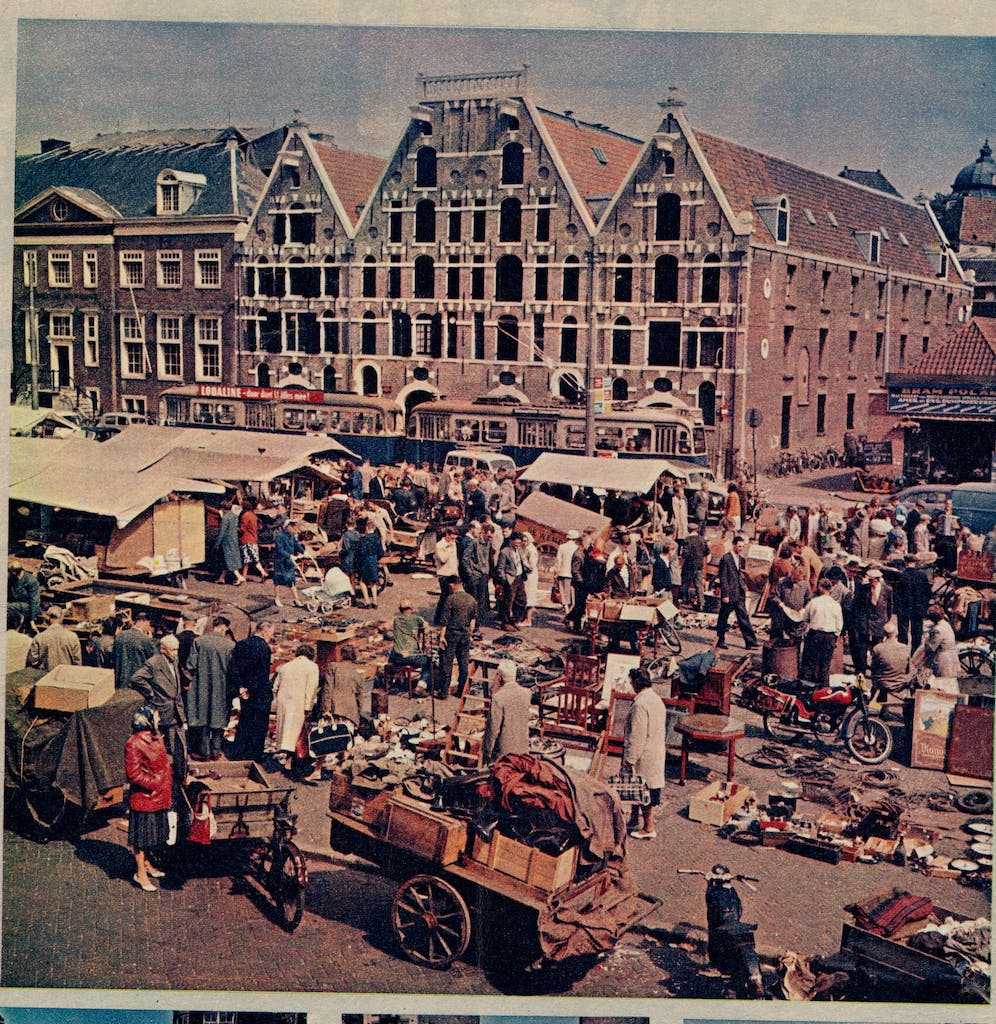 Old pictures of the waterlooplein visit it during your Romantic trip to Amsterdam
