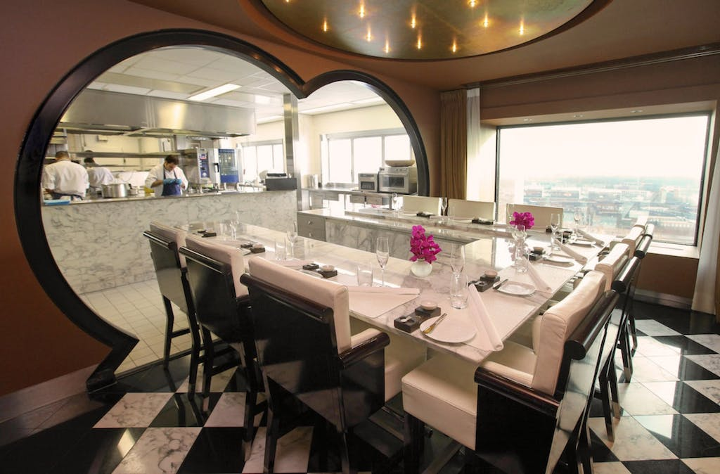 Inside of Romantic Restaurant Ciel Blue something special duin your romantic trip to Amsterdam