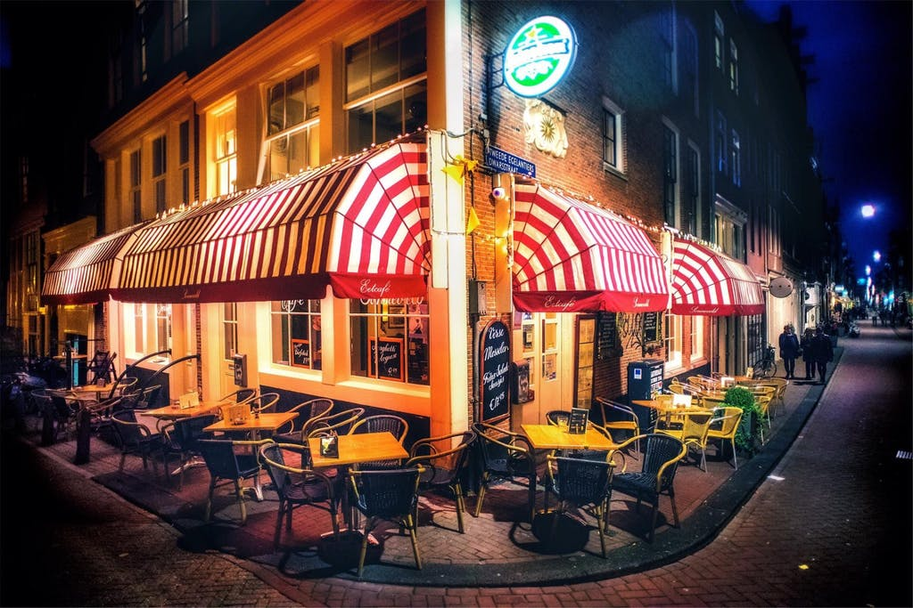 The Front of Restaurant Sonneveld a must try during your Romantic trip to Amsterdam