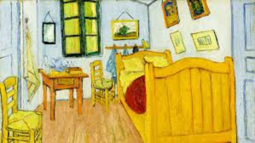 A picture of a painting of vincent van Gogh a great Musuem together duirng your Romantic trip to Amsterdam