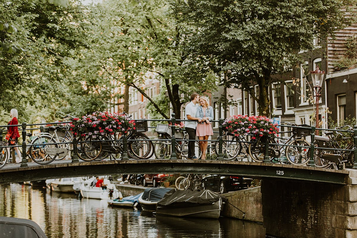have a picture at bloemgracht on valentines day in Amsterdam