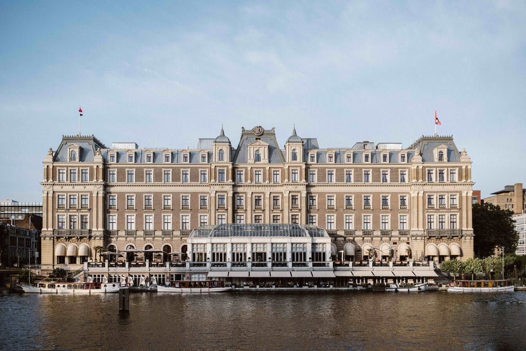 The backsite of The Amstel Hotel a great hotel for your romantic weekend in Amsterdam