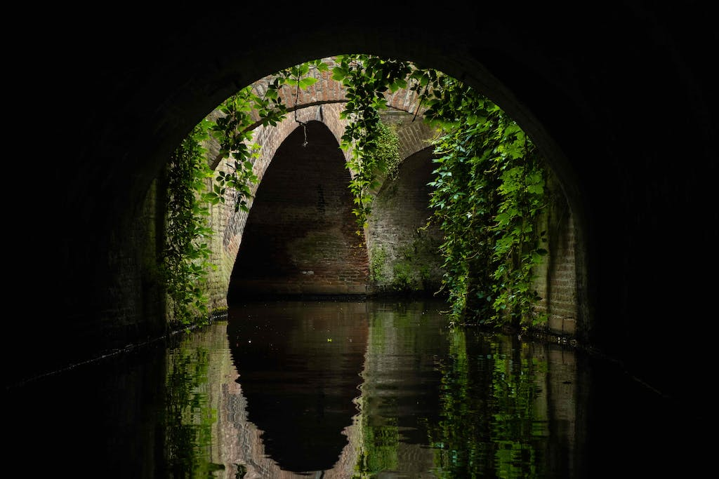 A tunnel in den bosch a wonderful city to visit on day trips from Amsterdam