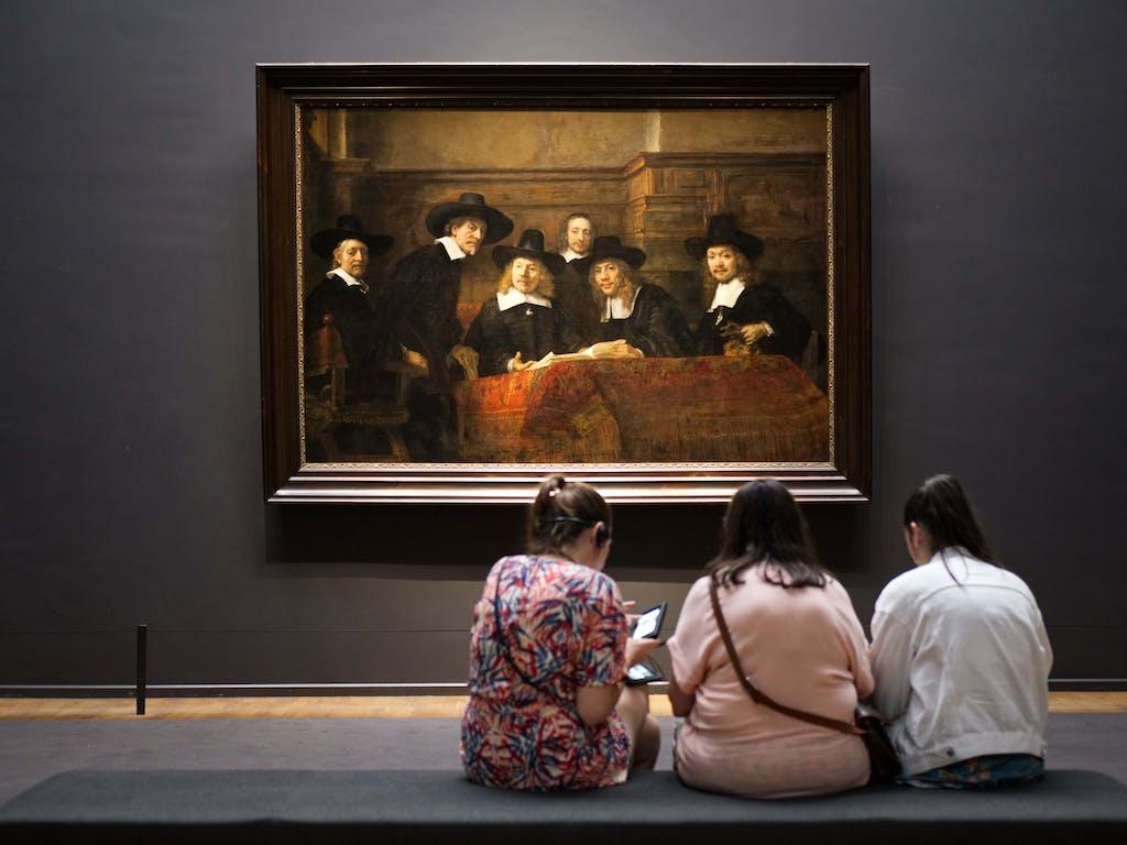 Watching rembrandts masterworks in Rijksmuseum Amsterdam