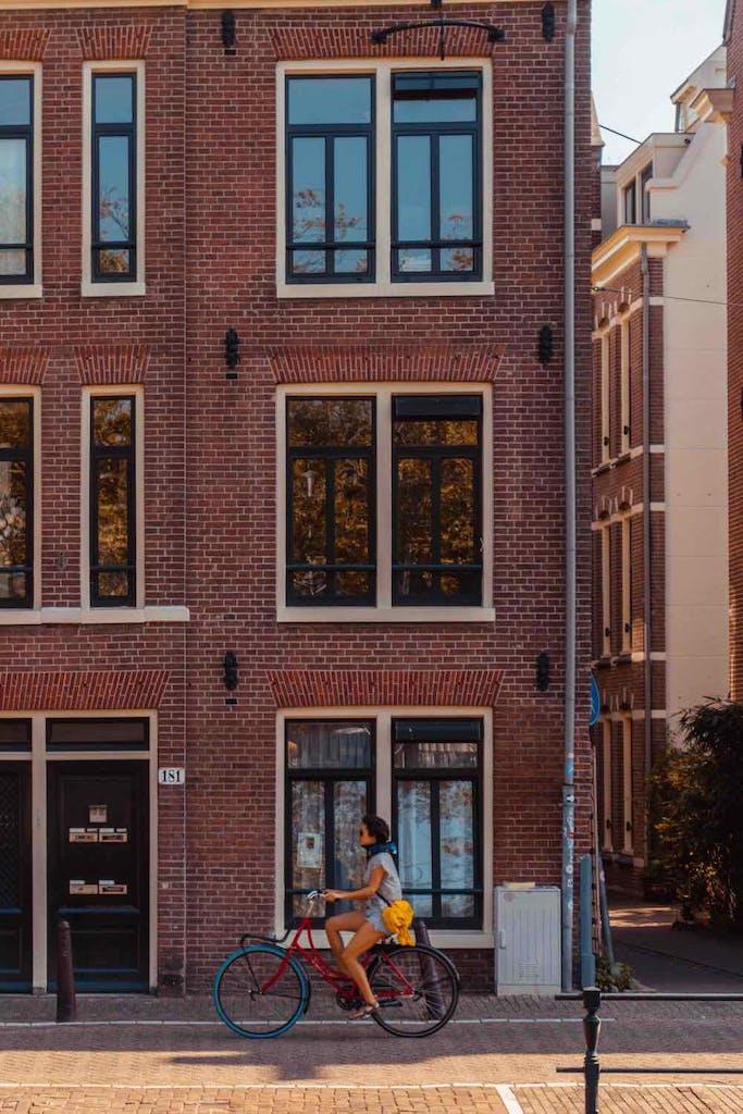 bike ride through amsterdam a romantic place