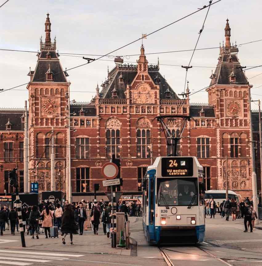 public transport amsterdam romantic places tram