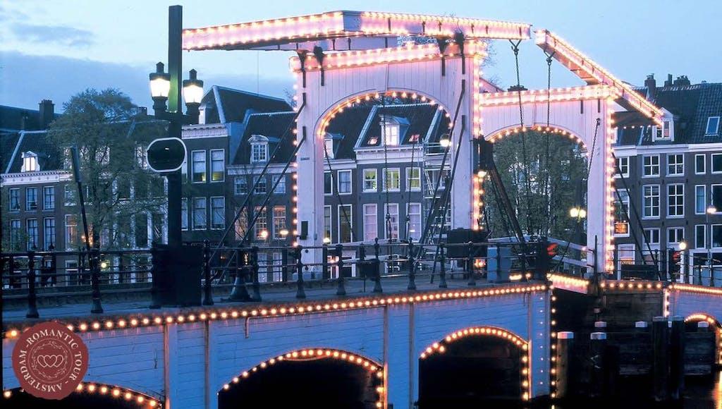 Romantic bridge for lovers in Amsterdam